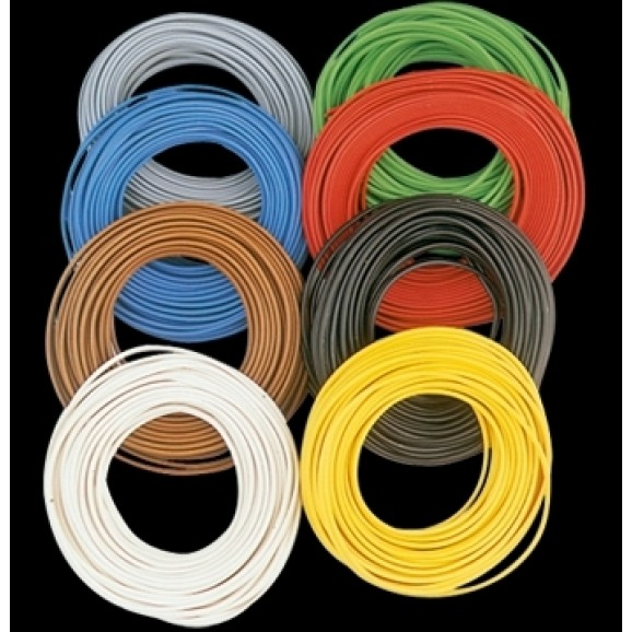 BRAWA - 3143 - Wire 0,2 mmý, 10 m ring, green