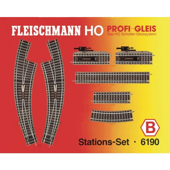 FLEISCHMANN - 6190 - Station-set B HO Scale