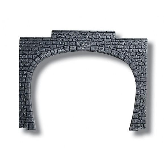 NOCH - 60020 Tunnel Portal plastic, double track,15,5 12,5 cm H0