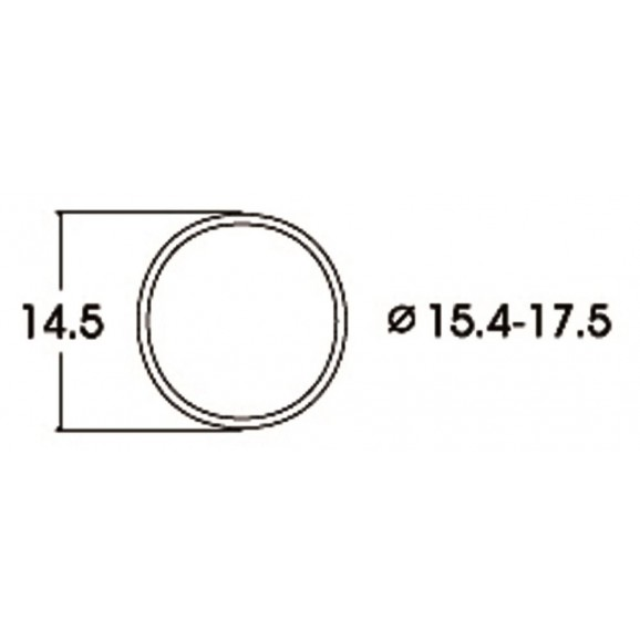 ROCO - 40076 - Kit:trac.wheel 15.4-17.5mm HO scale