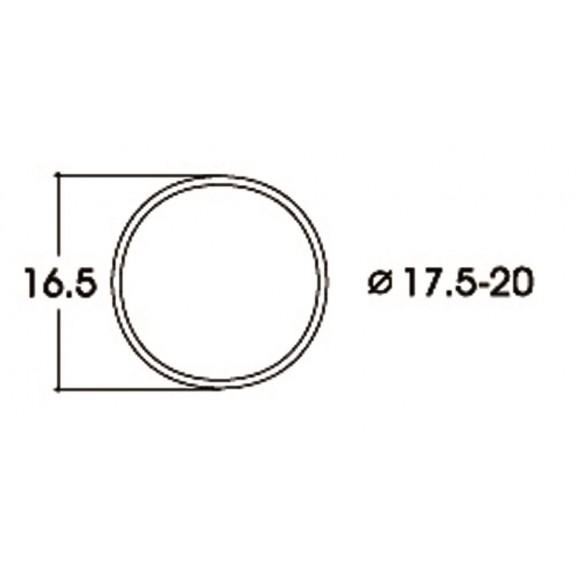 ROCO - 40077 - Kit:trac.wheel 17.5-20.0mm HO scale
