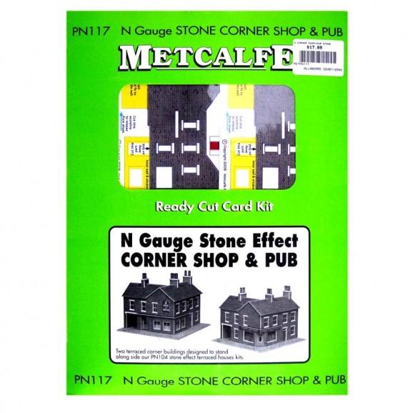 METCALFE - METPN117 - N CORNER SHOP+PUB STONE (N SCALE)