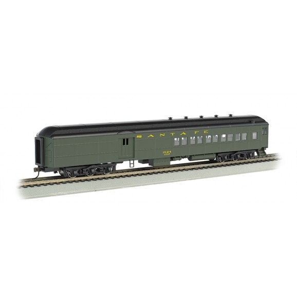 BACHMANN - 13603 - SANTA FE #1524 - 2 WINDOW DOOR (Pullman green) - HO (HO SCALE)