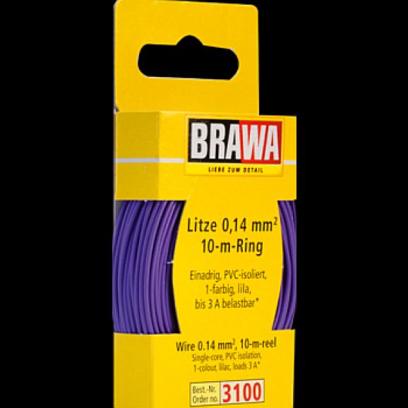 BRAWA - 3100 - Wire 0,14 mmý, 10 m ring, lilac
