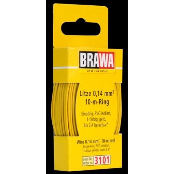 BRAWA - 3101 - Wire 0,14 mmý, 10 m ring, yellow