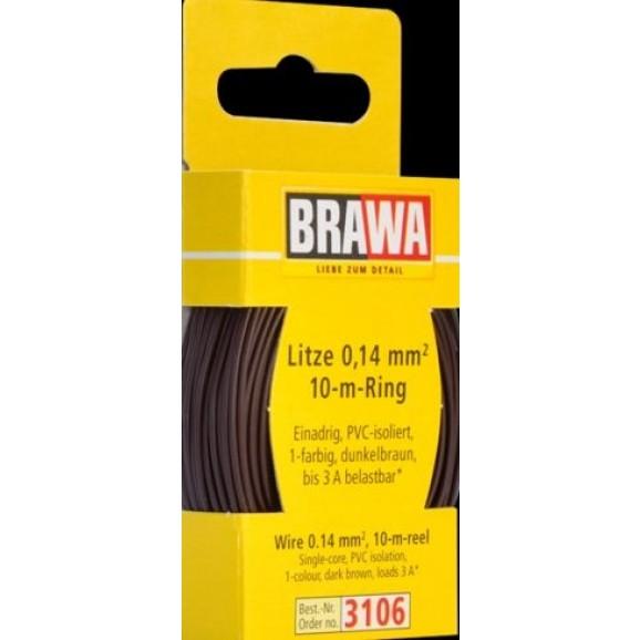 BRAWA - 3106 - Wire 0,14 mmý, 10 m ring, dbr