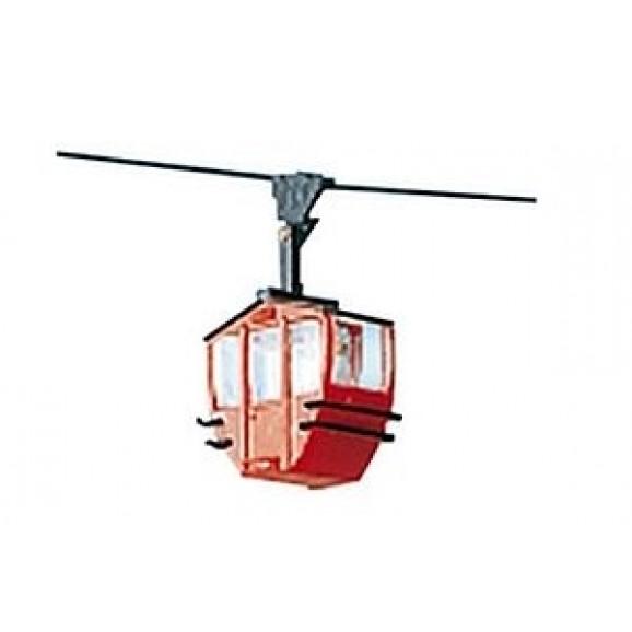 BRAWA - 6281 - H0 Single Cabin, red