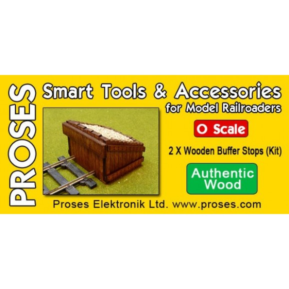PROSES - BF-OS-08 - O Scale Scale Authentic Wood Buffer Stop Kit (2 in a pack)