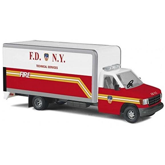 BUSCH - BU41856 - FORD E350 NY FIRE (HO SCALE)