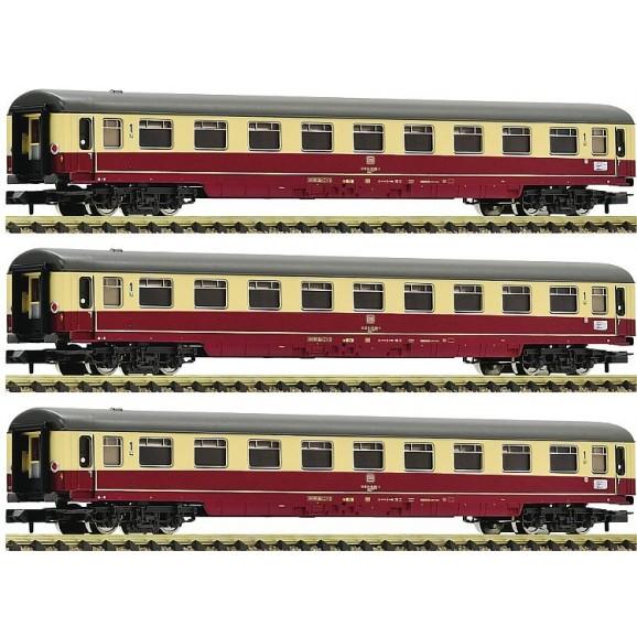 Fleischmann - 881911 - 3 piece set 1: Motorail train Christoforus DB ep.IV N Scale