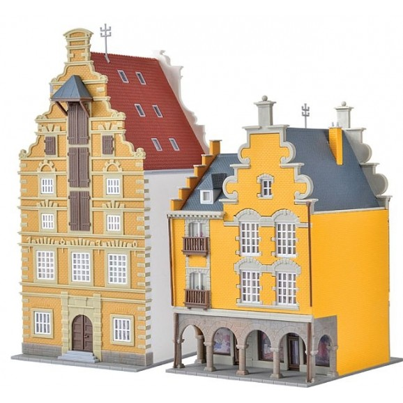 Kibri - 37154 - N Middle-class houses Tournai,2 pieces