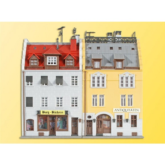 KIBRI - 37163 - N City houses at 1900, 2 pieces (N SCALE)