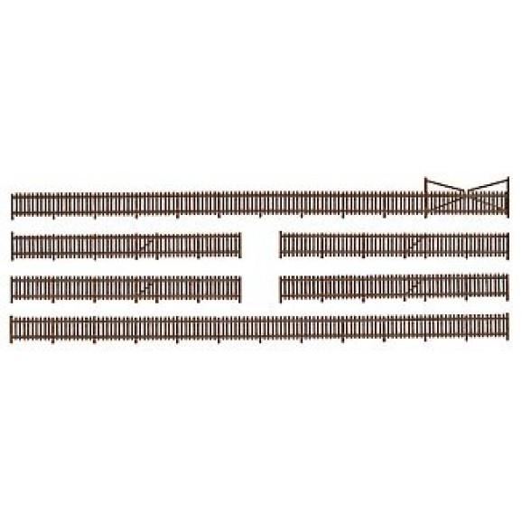 KIBRI - 37225 - N Fence with gates (N SCALE)