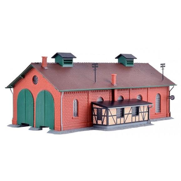 KIBRI - 37438 - N Loco shed, double track (N SCALE)