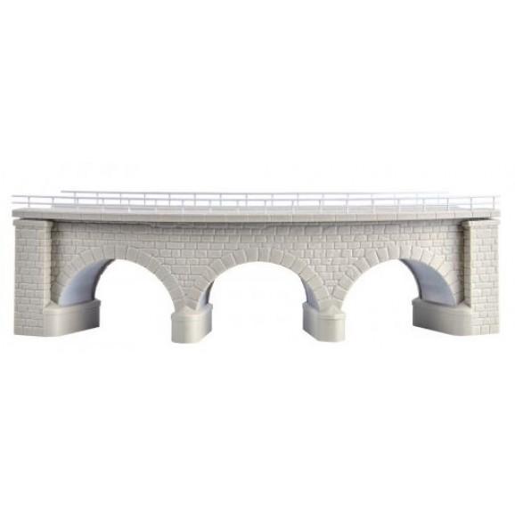 Kibri - 37661 - N/Z Regnitz bridge with ice breaking pillars,curved, single track