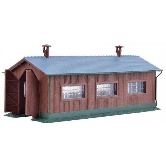KIBRI - 37802 - N Loco shed, single track (N SCALE)