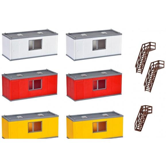 KIBRI - 38627 - H0 Building container, 6 pieces (HO SCALE)