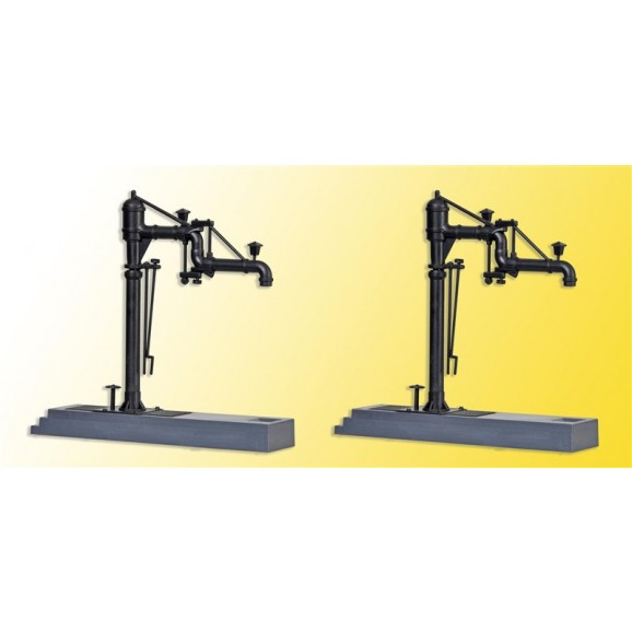 KIBRI - 39422 - H0 Water crane with swing arms, 2 pieces (HO SCALE)