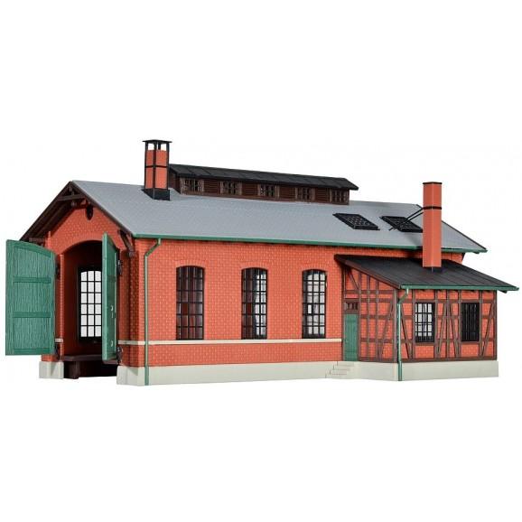 Kibri - 39436 - H0 Loco shed Eschbronn, single track