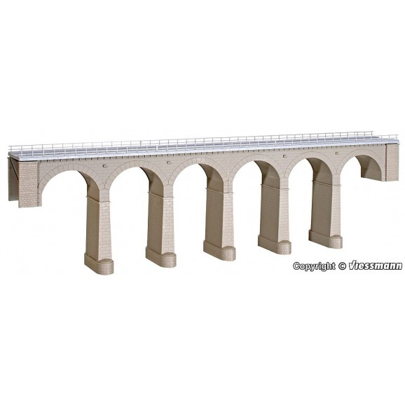 Kibri - 39724 - H0 Aachtal-viaduct with ice breaking pillars,single track