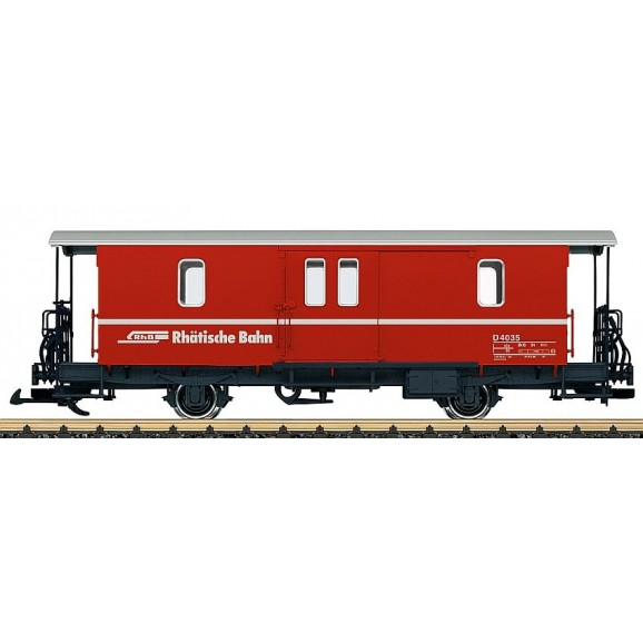 LGB - 34554 - Baggage car RhB D2 (G scale)