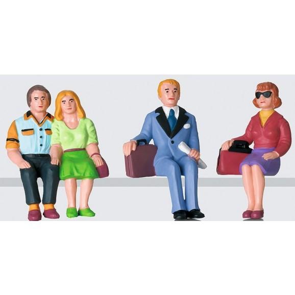 LGB - 53006 - Figure set sitting passengers (G scale)