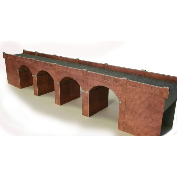 METCALFE - PO240 - DOUBLE TRACK VIADUCT RED OO/HO SCALE