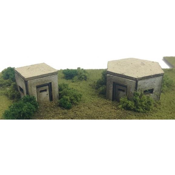 METCALFE - METPN820 - N SCALE PILL BOXES (N SCALE)