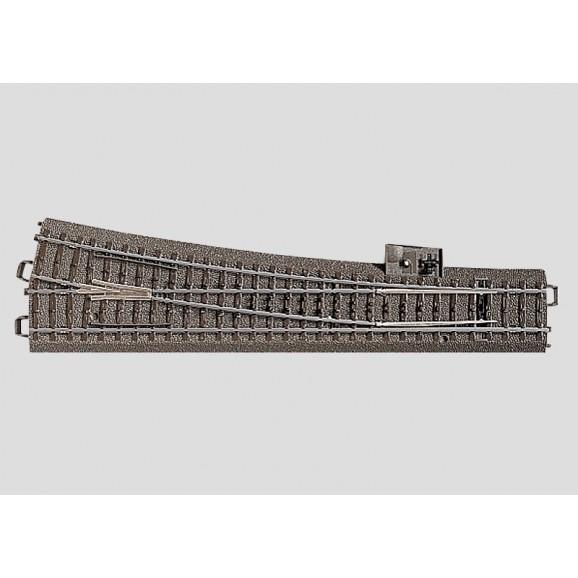 MARKLIN - 024712 - Manual Point right r11 14.6 mm HO 3 rail C Track