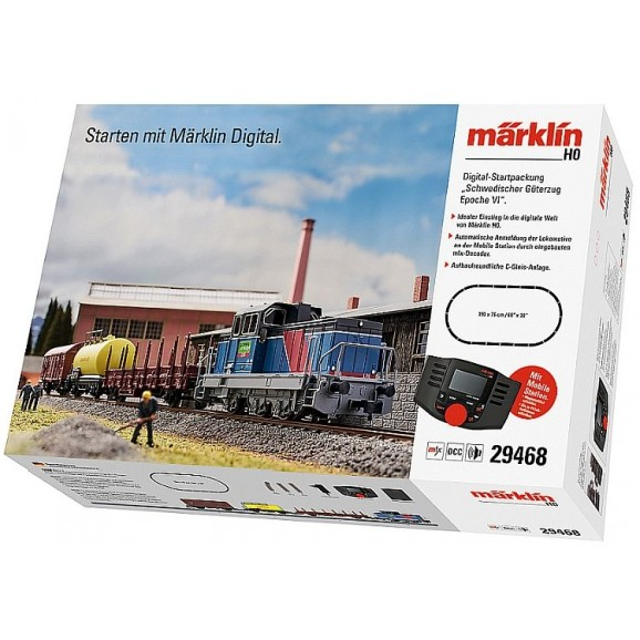 MARKLIN - 29468 - Swedish Green Cargo Freight (HO SCALE)