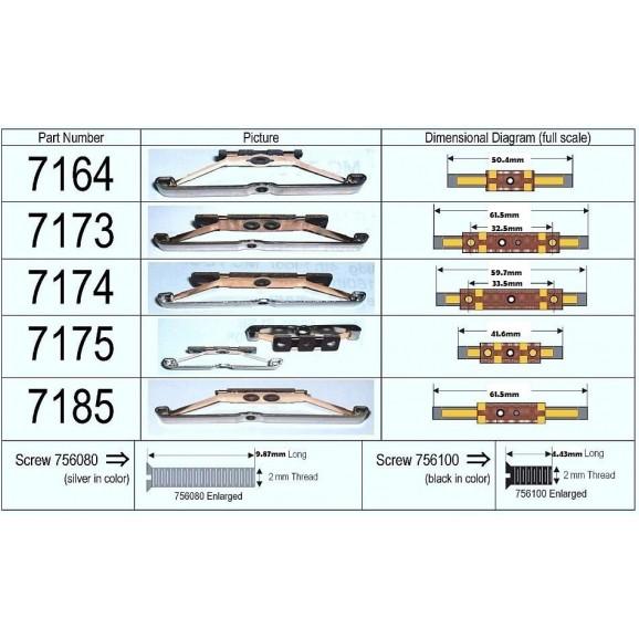 Marklin - 7175 - PICKUP SHOE PK/2 (HO Scale)
