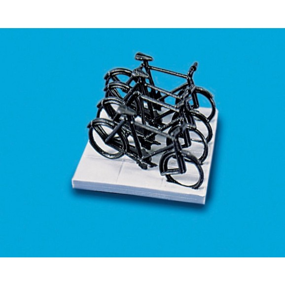 MODEL SCENE - MS5055 - OO / HO 4 BICYCLES 1 STAND