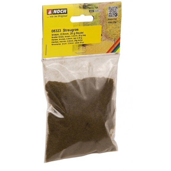 NOCH - 08323 Scatter Scatter Grass, brown, 2.5 mm G,0,H0,TT,N,Z
