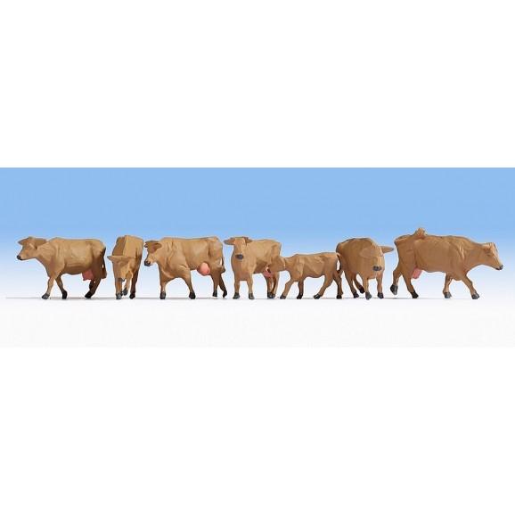 NOCH - 15727 - Cows, brown-H0