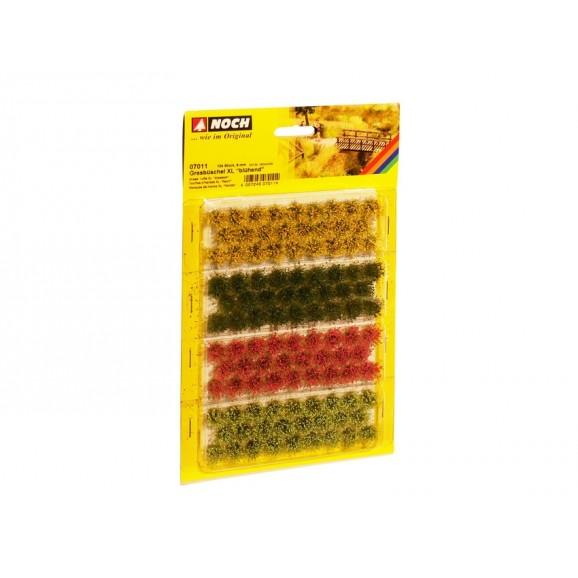 NOCH - 07011 - Grass Tufts - red, yellow. light + dark green 104pcs 9mm