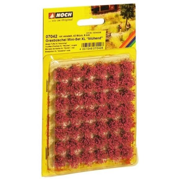 NOCH - 07042 - Grass Tufts Mini Set XL Blooming Red 42pcs 9mm