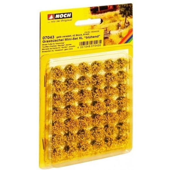 NOCH - 07043 - Grass Tufts Mini XL Blooming Yellow 42pcs 9mm
