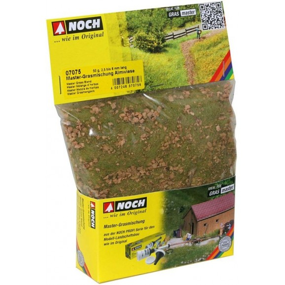 NOCH - 07075 - Master Grass Blend Alpine Meadow 2,5 bis 6 mm, 50 g G,0,H0,TT