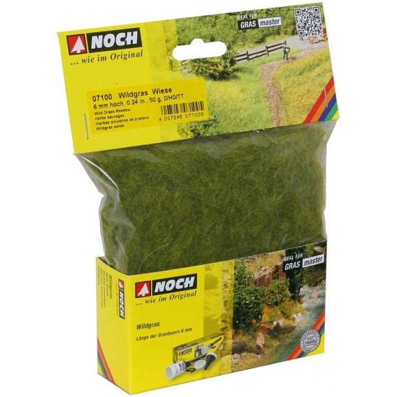 NOCH - 07100 - Wild Grass Meadow 6 mm, 50 g 0,H0,TT,N