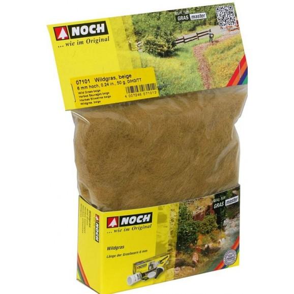 NOCH - 07101 - Wild Grass beige, 6 mm, 50 g 0,H0,TT,N