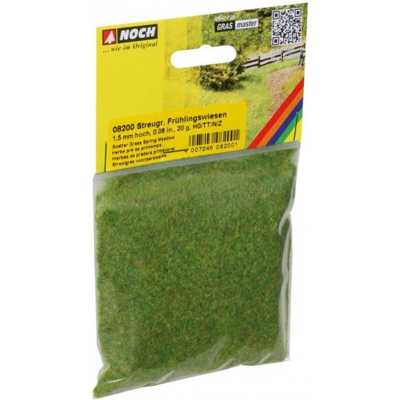 NOCH - 08200 - Scatter Grass Spring Meadow 1,5 mm, 20 g G,0,H0,H0E,H0M,TT,N,Z