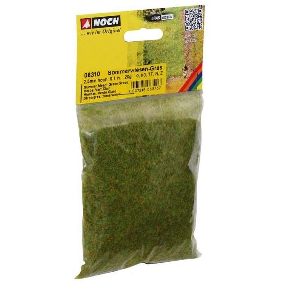 NOCH - 08310 - Scatter Grass Summer Meadow 2,5 mm, 20 g G,0,H0,H0E,H0M,TT,N,Z