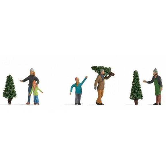 NOCH - 15927 - Selling Christmas Trees H0