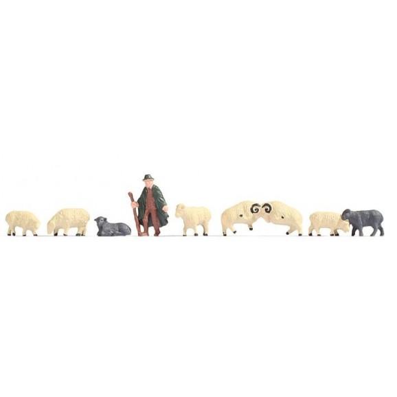NOCH - 18210 - Shepherd and Sheep H0
