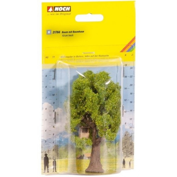 NOCH - 21766 - Tree with Tree House 9 cm high N SCALE