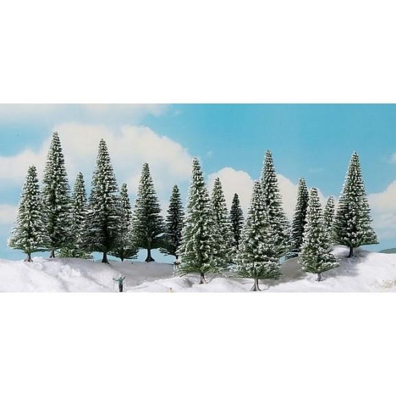 NOCH - 24681 - Snowy Fir Trees 16 pieces, 10-14 cm H0,TT