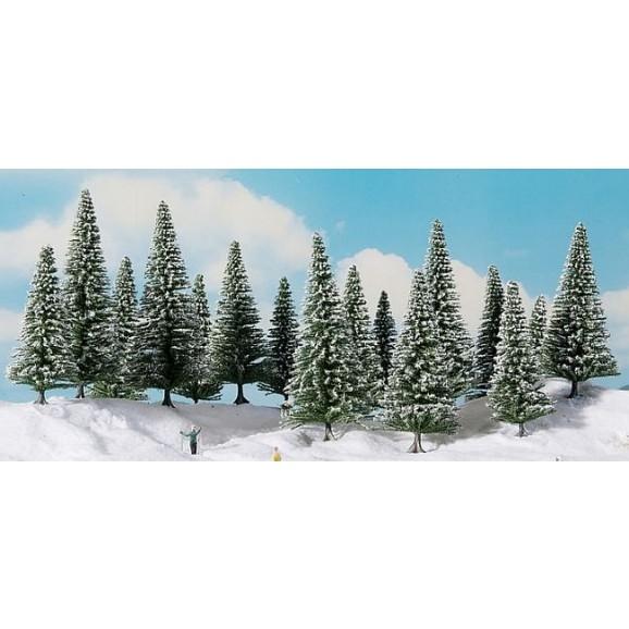 NOCH - 24682 - Snowy Fir Trees 6 pieces, 14-18 cm 0,H0,TT