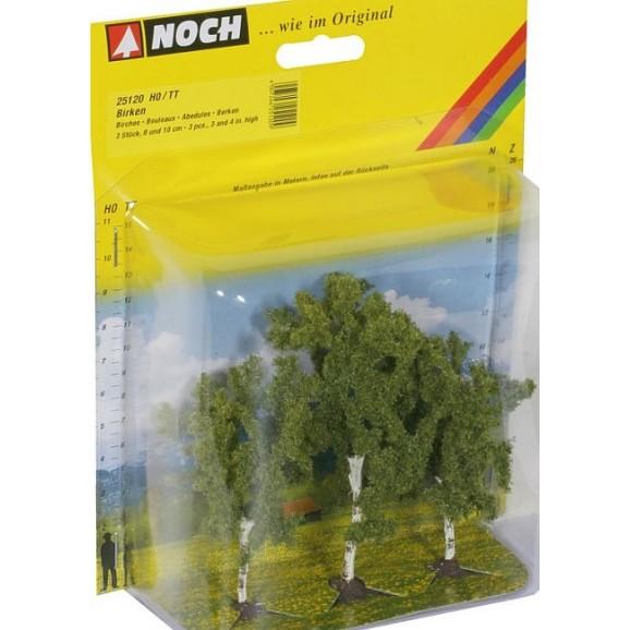 NOCH - 25120 - Birch Trees 3 pieces, 8 and 10 cm high H0,TT