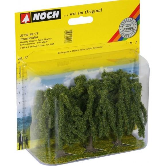 NOCH - 25130 - Weeping Willows 3 pieces, 8 cm high H0,TT