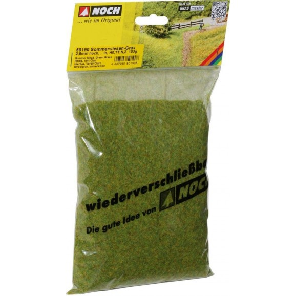 NOCH - 50190 - Scatter Grass Summer Meadow 2,5 mm, 100 g G,0,H0,TT,N,Z
